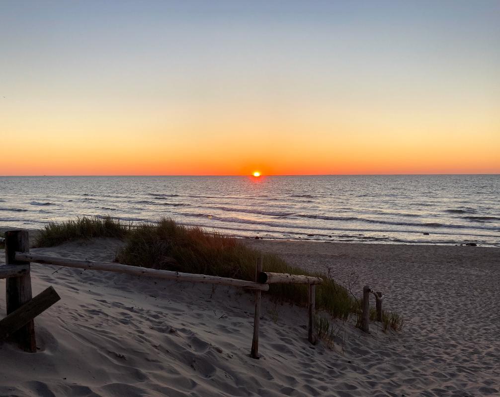 Sonnenuntergang Bakenberg Schwalbennest