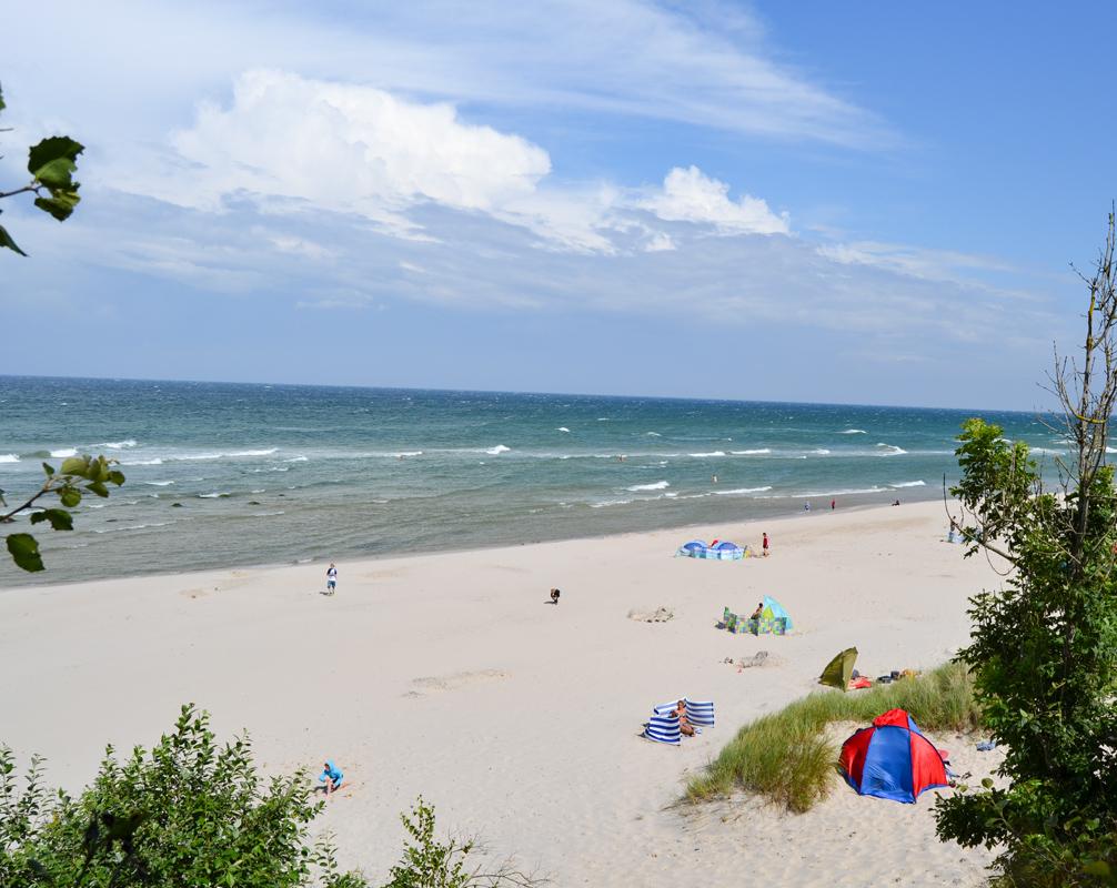 Strand Meer Feriensiedlung Schwalbennest am Bakenberg Ostsee